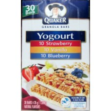 Granola Bars - Yogurt Granola Bars - Quacker Brand -  Variety Pack  / 1 X 34 Bars / 1.19 Kg