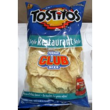 Chips - Tostitos Brand - Tortilla Chip - Restaurant Style 1 x 520 Gram Bag / Mega Size