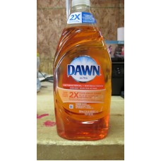 Soap - Dishwashing Liquid -   Dawn Ultra Brand - Antibacterial - Cleans Up To 2X  More Greasy Dishes - Orange Scent / 2 x 638 ml