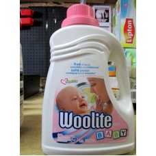Detergent - Liquid Laundry - Woolite Brand - Woolite Baby Liquid -  HE Product - Hypoallergenic Product -  Free Of Harsh Enzymes & Chemicals - 30 Loads / 1 x 1.8 Liter Bottle