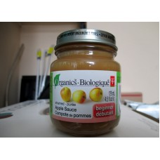 "Baby Food - President Choice Brand - Strained Applesauce - Beginner - Organic / 3 x 128 ml / 4.5 fl. oz.""""See Pictures For More Details"""""