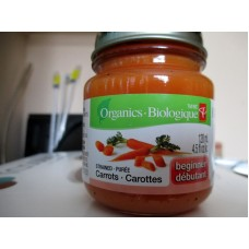 "Baby Food - President Choice Brand - Strained Carrots - Beginner - Organic  / 3 x 128 ml / 4.5 fl. oz.""""See Pictures For More Details"""""