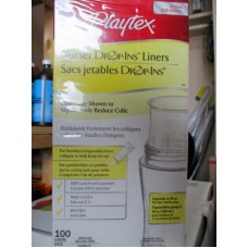 Baby Bottle Liners - Playtex  Brand - 8 oz / 10 oz  Liners   1 x 100 Drop In Liners