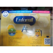 Baby Formula - Enfamil A+ - Concentrate Liquid Formula  / 12 x 385 ml Cans