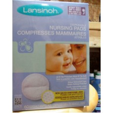 Baby - Nursing Pads - Lansinoh Brand - Individually Wrapped Disposable Nursing Pads  /  1 x 60 Pads