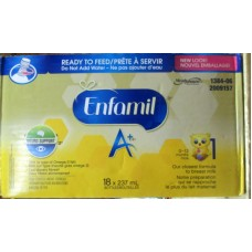 Baby Formula - Enfamil A+ Liquid - Ready To Feed - Do Not Add Water - Iron Fortified - 0 to 12 Months With RDA & ARA - Our Closest Formula To Breast Milk 18 x 237 ml Bottles