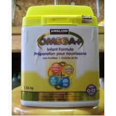 """Baby Formula - Kirkland Brand - Omega+ Infant Formula Powder  - Iron Fortified - Omega 3 - Omega 6  / 0 - 12 Months / 1 x 1.36 Kg /3.2 lb / """"""""See Details"""""""""""