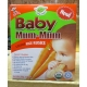 Cookies - Mum-Mum Brand - Carrot Rice Rusk - Organic - Gluten,Egg & Peanut Free - 50 Gram Box / 1 x 24 Individually Wrapped Rusks