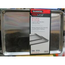 Baking - Biscuit Pans -  2 Piece Half-Size Bun & Biscuit Pans - Heavy Duty Aluminum - Commercial Grade - 18 Inch x 13 Inch - 1 x 2 Pans -