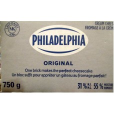 Cheese - Cream Cheese -  Philidelphia Brand /  1 x 750 Grams