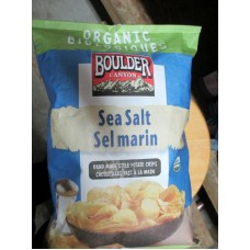 Chips - Boulder Canyon Brand - Sea Salt  - Organic - Hand Made Style Potato Chips / 1 x 596 Gram Bag