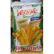 Chips - Garden Veggie Straws - Original - Now With Sweet Potato -   All Natural No Trans Fat 1 x 475 Gram Bag