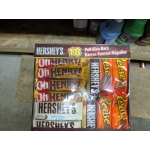 Chocolate Bars - Hershey's Brand - Full Size Bars - 1 x 18 Bars / 5 Oh Henry & 5 Reese Peanut Butter Cups & 4 Hershey's Whole Almonds & 4 Hershey's Cookies & Creme