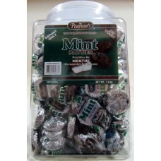 Chocolate - Mint Patties  - Pearson's Brand - Chocolate Covered 1 x 240 Patties / 1.8 Kg Tub