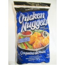Frozen - Chicken Nuggets - Hampton Bread - Uncooked Breaded Cutlettes - Made With White Meat - Ready In 15 Minutes / 1 x 3 Kg Resealable Bag