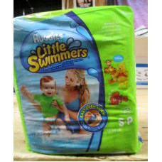 Diapers - Swim Pants - Little Swimmers - Huggies Brand - Small Size - Will Not Swell / 7-12 Kg / 16-26 lbs / 1 x 20 Diapers