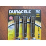 Office Supplies - Flashlights - Duracell Brand - LED Flashlights -  Durabeam Ultra - High Intensity - 300Lumens / 3 Pack Package With Batteries For Each