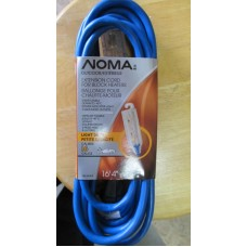 Extension Cord - Outdoor - Extension Cord For Block Heaters - Noma Brand - 3 Grounded Outlets - 16.5 Feet Long - Light Duty - 16 Gauge - Stays Flexible Down To -40C - 1 x 1 Extension Cord