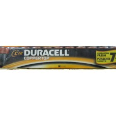 Batteries - Duracell Brand - Coppertop - Zize 'C'  1 x 12 Batteries