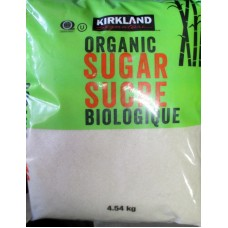 Sugar - Organic Cane  Sugar - Kirkland Brand / 1 x 4.54 Kg / 10 lbs