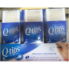 Cotton - Cotton Swabs - Johnson's Brand - Q-Tips / 3 x 625 Packages = 1875 Cotton Swabs