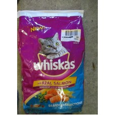 Pet Supplies - Cat Food Dry - Whiskas Brand - Seafood Selections - With Real Salmon / For Adult Cats 1 x 9.1  Kg Bag