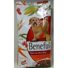 Pet Supplies - Dog Food  Dry - Purina Brand Beneful With Beef / 1 x 14 Kg