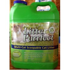 Pet Supplies - Cat Litter - Purrfect  Brand - 1 x 18.1kg / 39.8 lbs) $.30 Per Lb  /  MEGA SIZE