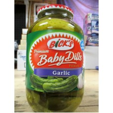 Pickles - Bick's Brand - Baby Dills - With Garlic  / 1 x 2 Liter