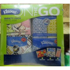 Tissue - Kleenex Brand - Facial - Variety Pack - 28 Packs - 10 x Slim Packs & 2 x Car Wedge Packs & 16 x Go Packs / 1 x 28 Packs