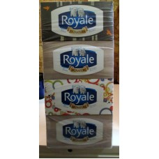 Tissue - Royale Brand - Facial -  3 Ply - Hypoallergenic / 6 Boxes x 88 Sheets
