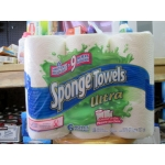 Towel - SpongeTowels Brand - 2 Ply - Spongetowel Ultra -  Choose-A-Size - Giant Rolls  / 6 x 136 Sheets Per Roll