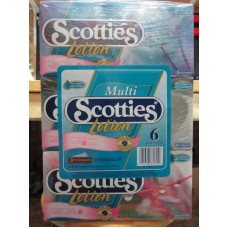 Tissue - Scotties Brand - Facial - 3 Ply - With Lotion - With Aloe & Vitamin E  / 6 x 70 Sheets