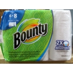 Towel - Bounty Brand - Paper Towel - 2 Ply - Select A Size / 6 Rolls x 94 Sheets