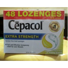 Vitamins - Lozenges - Cepacol - Extra Strenght - Honey Lemon - For Sore Throats - Sucrose Free - 3 Boxes - 1 x 48 Lozenges