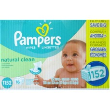 Wipes - Baby Wipes - Pampers Brand - Complete Clean -Baby Fresh Scent  - 15 -Pop Top Packs / 1 x 1200 Wipes
